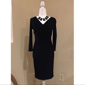 LAUREN Ralph Lauren navy blue dress size 2p